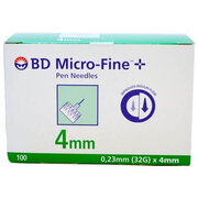 INSULIN BD MICRO-FINE 4 MM-HG1